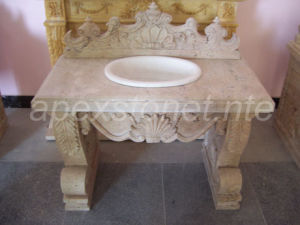 Travertine Vanity Top