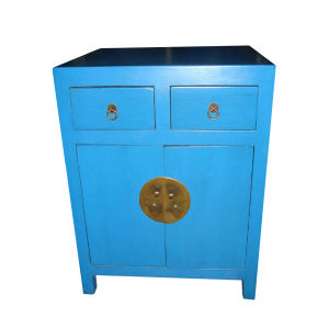 Chinese Antique Blue Wooden Cabinet Lwb400 pictures & photos