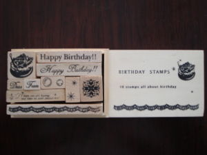 Wooden Stamp Set (SD-YZ0063)