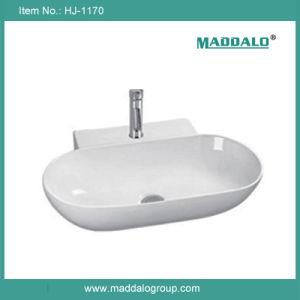 Foshan Supply High Quality Grade Ceramic Bathroom Wash Basin (HJ-1170)