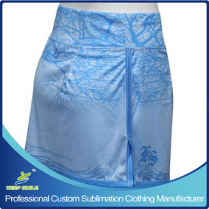 Custom Made Sublimation Women′s Sports Dress for Women Clothes Boarder Skirt pictures & photos
