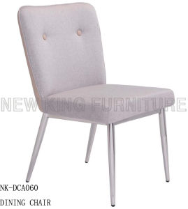 Modern Stainless Steel Base Pink Fabric Cover Wedding Chair (NK-DCA060)
