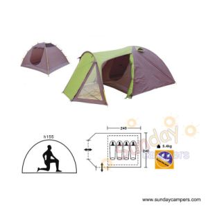 4 Men Double Layers With Individual Camping Tent (SCC-905) pictures & photos
