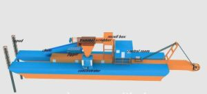 Cutter Suction Dredger for Mining Gold