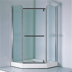 Bathroom Corner Simple Bath Tempered Glass Shower Cabin