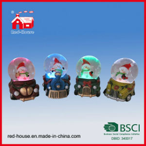 Polyresin Water Globes Gifts Christmas Snow Globes Snowman Cute Train Base