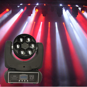 DMX 6X10W RGBW Indoor LED Beam Moving Head Light pictures & photos