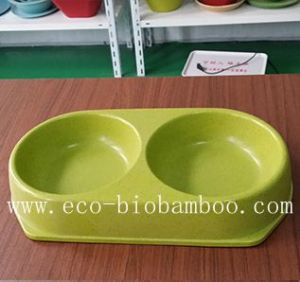 Biodegradable Bamboo Fiber Pet Supply Bowl (BC-PE6004) pictures & photos