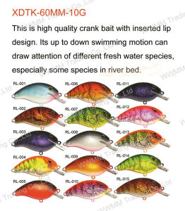 Fising Lure Fishing Tackle, Plastic Lure--Crank Bait (HRL011) pictures & photos