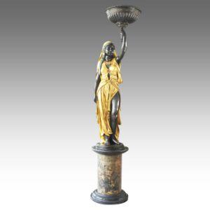 Garden Bronze Sculpture Indian Lady Home Decor Brass Statue Tpls-063 / 065