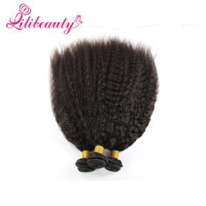 Top Remy Hair Weave Kinky Straight Virgin Mongolian Hair pictures & photos