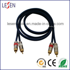 2RCA Cable with Metal Shell pictures & photos