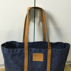 Custom High Quality Waxed Canvas Tote Bag for Ladies pictures & photos
