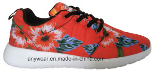 Ladies Flower Comfort Casual Footwear Walking Shoes (516-5889) pictures & photos