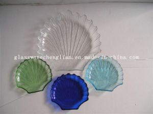 Solid Color Shell-Shape Glass Plate (P-028) pictures & photos