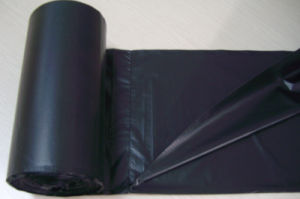 LDPE/HDPE Plastic Black Star Seal Rubbish Bag on Roll pictures & photos