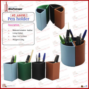 Multifunction PU Leather Office Pencil Box (6449R1) pictures & photos