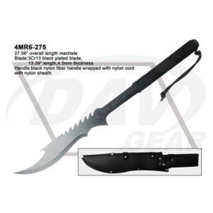 "27.56"" Overall Black Blade Machete with Black Nylon Fiber Handle pictures & photos"