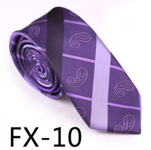 New Design Fashionable Stripe Paisley Necktie (Fx-10) pictures & photos