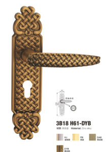 Classical Design Middle Size Zinc Alloy Door Lock (3B18 H61-DYB) pictures & photos
