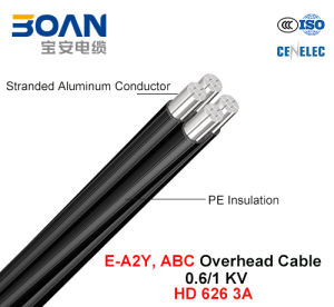 E-A2y, 0.6/1 Kv, Al/UV-XLPE, ABC/Overhead Cable (HD 626) pictures & photos