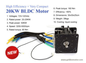 Low Noise, High Torque 72V 20kw Brushless DC Motor pictures & photos