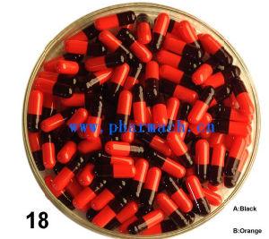 Empty Hard Gelatin Capsule Shell Black Orange pictures & photos
