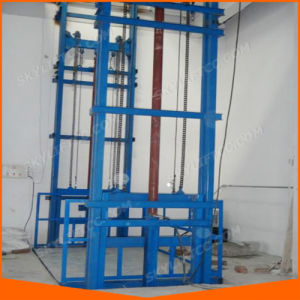 Customized 3-8m Guide Rail Cargo Lift for Warehouse Goods Use Guide Chain pictures & photos