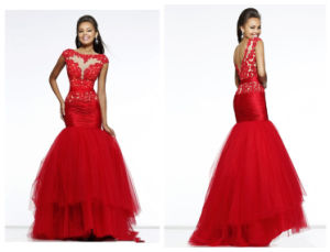 Free Shipping Red Mermaid Prom Dress