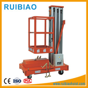 Awp6-1000 Mobile Hydraulic Electronic Single Mast Aluminum Alloy Lift Platform/Table/Ladder pictures & photos