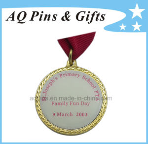 Gold Metal Medal with Printed Logo & Epoxy pictures & photos