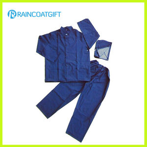 Water-Resistant PVC Polyester Raincoat and Pants pictures & photos