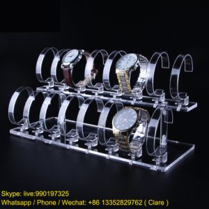 2 Tiers Acrylic Transparent Watches Display Rack pictures & photos