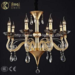 Golden European Crystal Lamp (AQ-20015-8) pictures & photos