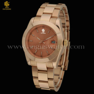 Fashion Wrist Watch for Men, Rose Gold Stainless Steel Watch (JST0822-7)