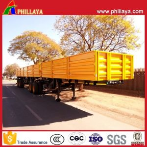 4 Axles Side Wall Flatbed Semi Truck Superlink Interlink Trailer pictures & photos