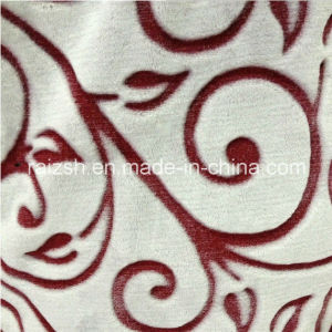Textile Fabrics Coral Fleece Flannel Fabric Printing Cut Flowers pictures & photos
