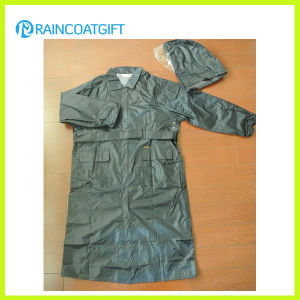 Rvc-169 100% Polyester PU Coating Police Raincoat pictures & photos