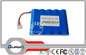 (1S5P) 3.7V 12000mAh 18650 Lithium Battery Pack pictures & photos