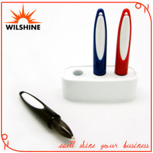 Popular Plastic Desk Pen with Base for Promotion (VDP336) pictures & photos