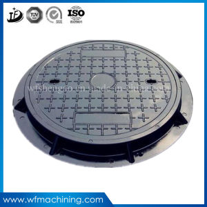 OEM Ductile/Grey Iron Sand Casting Metal Cast Iron Drain Manhole Cover for Sewer Drainage Cover pictures & photos