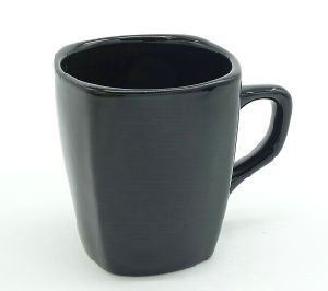 Black 4 Sides Stoneware Coffee Mug at Good Prices pictures & photos