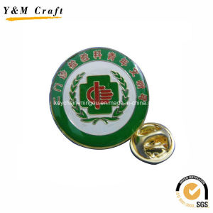 Customised Cmyk Printed Company Steel Pins for Sale Ym1100 pictures & photos