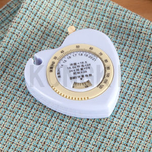 Small Heart Shape Kongki Brand Wholesale Mini Body Measuring Tape to Print Logo