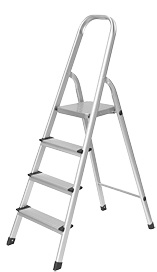 En131 Approved 4 Step Aluminum Household Ladder with Non-Slip Step pictures & photos