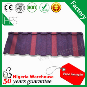 Building Material Bent Roof Sheet Stone Coated Metal Roof Tile 50 Years Warranty pictures & photos