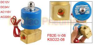 1/4′′ Direct Acting Solenoid Valve Fb2e-V-08 Viton Compact Ksd 2/2 Way Valve pictures & photos