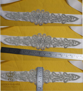 Elegant Sash/Wedding Hot Fix Rhinestones Applique for Evening Dress pictures & photos