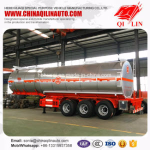35FT Length Corrosive Chemical Insulated Tanker Semi Trailer pictures & photos