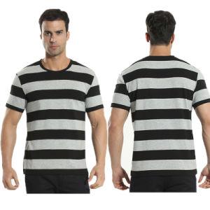 OEM Men′s Popular Cotton Round Neck Stripe T Shirt pictures & photos